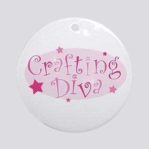 """Crafting Diva"" [pink] Ornament (Round)"